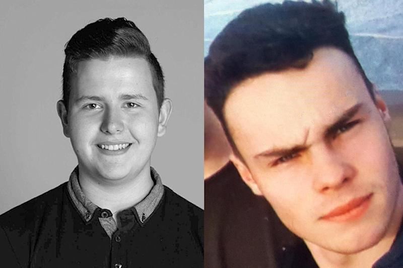 Tribute: Harry Watson, 17, (left) and Alex Yeoman, 17, were found dead at the bottom of cliffs