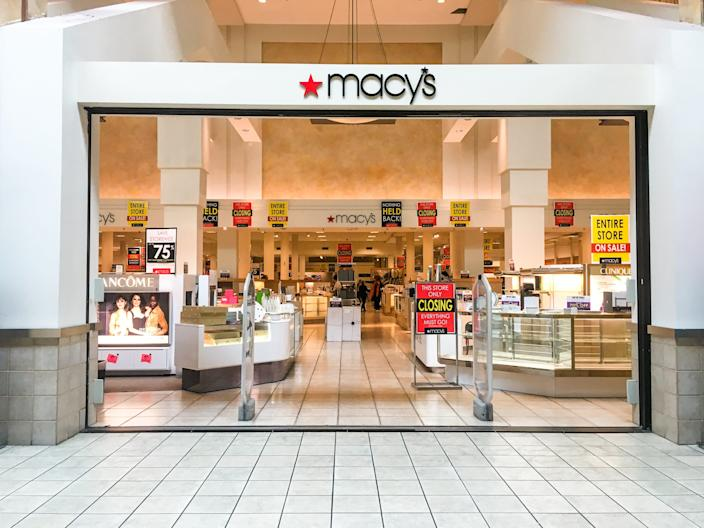 "A Macy's storefront in a Seattle mall in July 2019. <p class=""copyright"">Irene Jiang / Business Insider</p>"