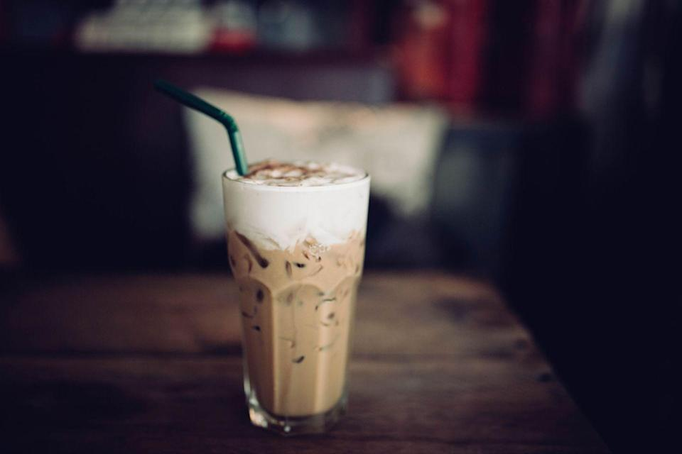 """<p>Your complete daily dose of sugar might be hiding out in that grande cup. </p><p>""""If that's not enough to shock you, think about this: a <a href=""""https://www.starbucks.com/menu/drinks/frappuccino-blended-beverages/caramel-frappuccino-blended-beverage"""" rel=""""nofollow noopener"""" target=""""_blank"""" data-ylk=""""slk:grande blended frappuccino"""" class=""""link rapid-noclick-resp"""">grande blended frappuccino</a> may provide more carbohydrates than 4 ½ pieces of bread, without the fiber or any nutritional value, really,"""" Werner says. """"When ordered with whole milk, these drinks can shoot your saturated fat intake up pretty high for the day."""" </p><p>High sugar + high fat = a heart-harmer. Instead, stick to an iced coffee with a splash of unsweetened almond or skim milk. Try these <a href=""""https://www.prevention.com/food-nutrition/healthy-eating/a23614430/healthy-starbucks-drinks/"""" rel=""""nofollow noopener"""" target=""""_blank"""" data-ylk=""""slk:low-sugar Starbucks drinks"""" class=""""link rapid-noclick-resp"""">low-sugar Starbucks drinks</a> instead. </p>"""
