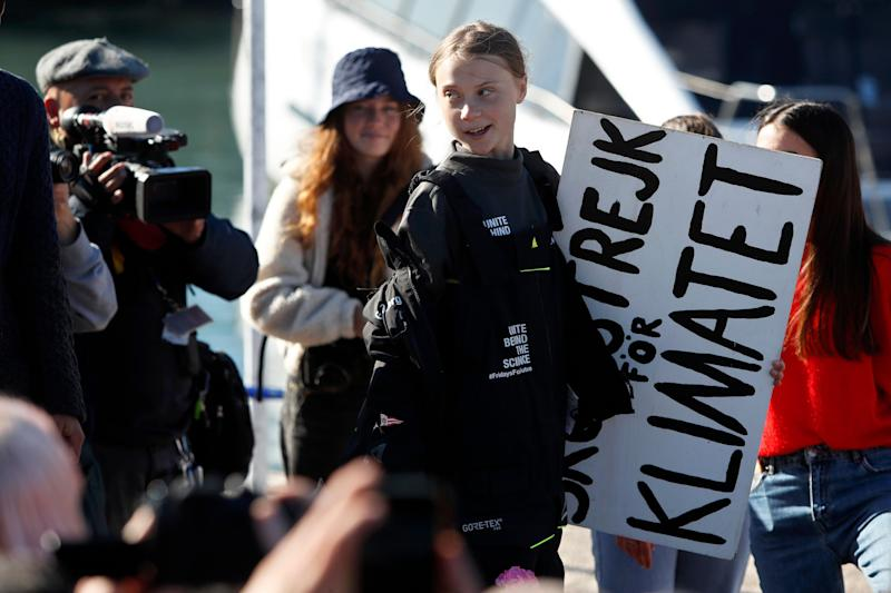 Climate activist Greta Thunberg arriving in Lisbon on Tuesday. Her activism has spurred a lot of people to see climate change as an existential threat. (Photo: ASSOCIATED PRESS)