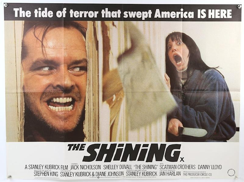 An iconic image form The Shining features on one poster (Courtesy of Ewbank's Auctions)
