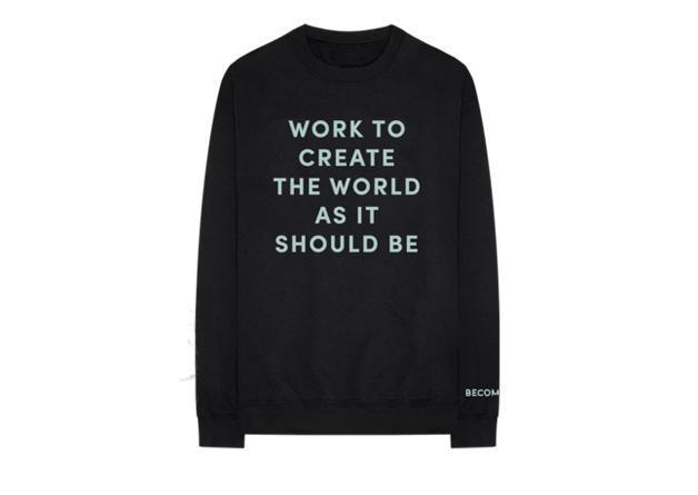 Create World crewneck, $60 (Michelle Obama Shop )