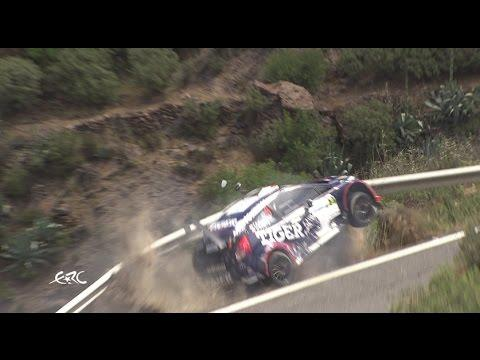 <p>European Rally Championship driver Tomasz Kasperczyk had a dramatic near miss on Friday, May 5, when his car slammed into a guardrail during the Rally Islas Canarias, leaving it dangling over a sheer drop.</p><p>Kasperczyk leapt from the car and signalled he was uninjured. Credit: FIA ERC via Storyful</p>