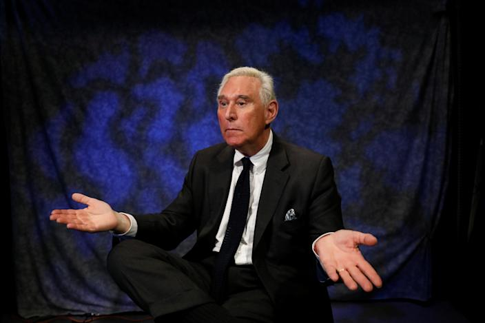 Political adviser Roger Stone during an interview in 2017. (Photo: Brendan McDermid/Reuters)