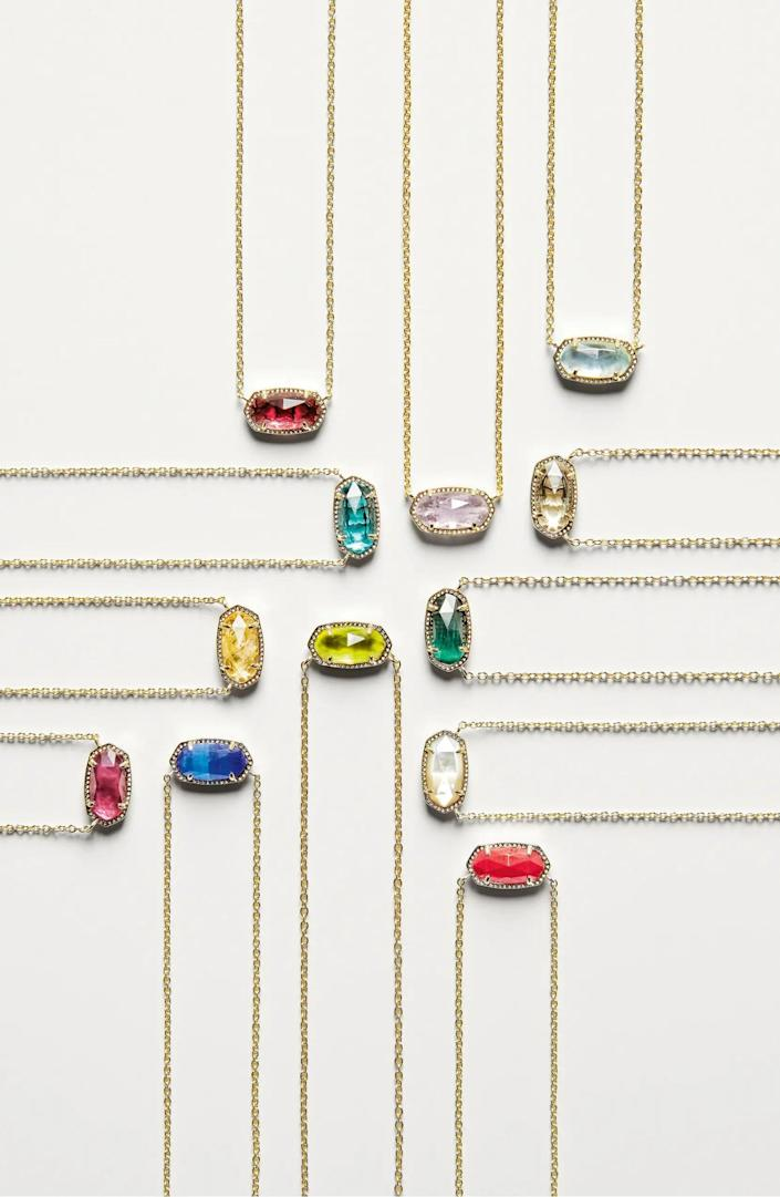 <p>Make someone feel special with the <span>Kendra Scott Elisa Birthstone Pendant Necklace</span> ($50).</p>