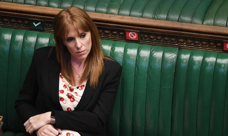 Deputy Labour leader, Angela Rayner, in the House of Commons in London earlier this month.