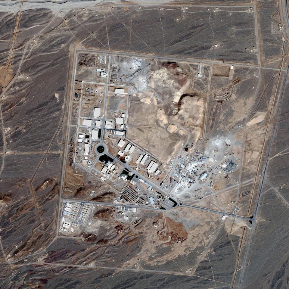 In this satellite image, collected on February 28, 2007, a uranium enrichment plant spreads over the land of Natanz in Iran - Getty Images