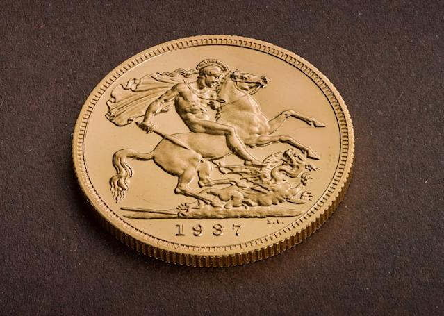The reverse of the Edward VIII coin. Photo: PA/Royal Mint
