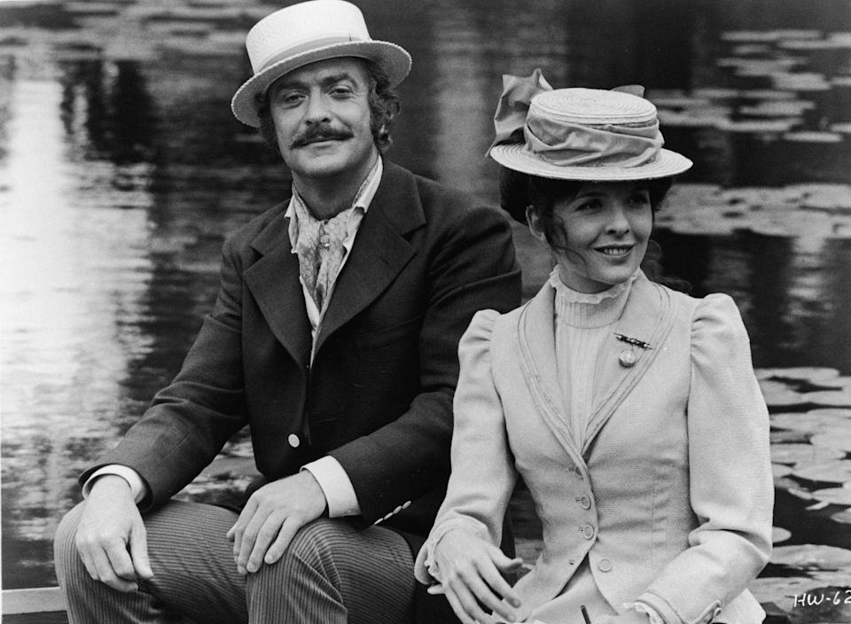<p>Michal Caine and Diane Keaton sit in a boat in a publicity still from <em>Harry and Walter Go To New York</em>, directed by Mark Rydell, 1976.</p>