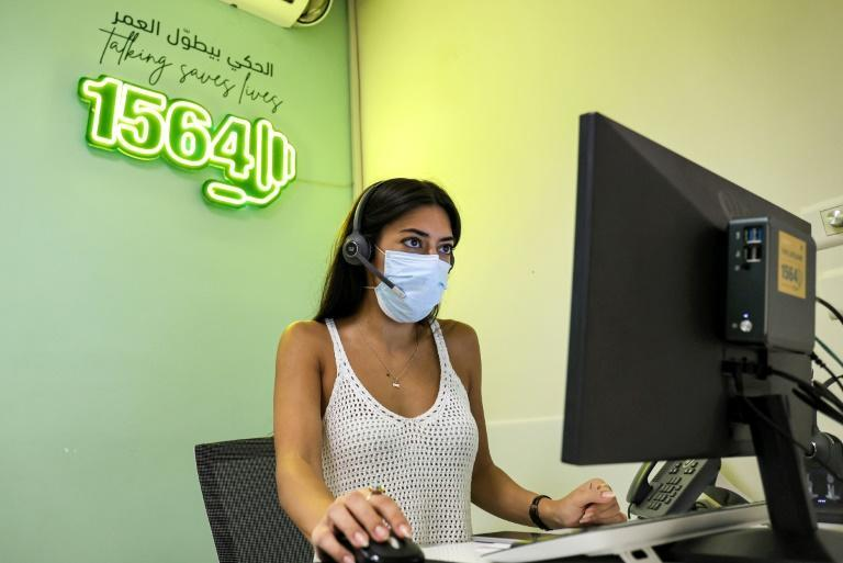 The phones at Embrace, Lebanon's only suicide-prevention hotline service, hardly ever stop ringing amid the country's crises (AFP/ANWAR AMRO)