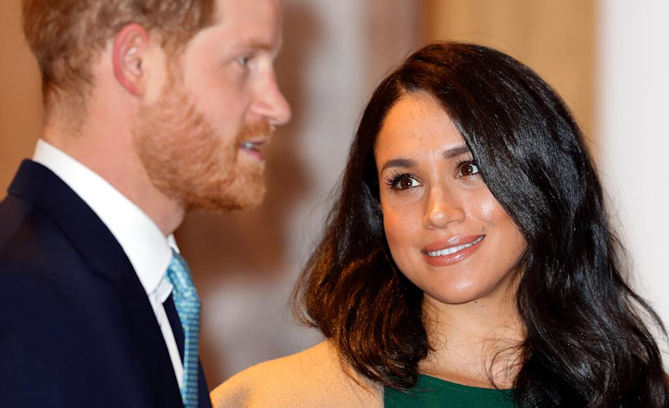 LONDON, UNITED KINGDOM - OCTOBER 15: (EMBARGOED FOR PUBLICATION IN UK NEWSPAPERS UNTIL 24 HOURS AFTER CREATE DATE AND TIME) Prince Harry, Duke of Sussex and Meghan, Duchess of Sussex attend the WellChild awards at the Royal Lancaster Hotel on October 15, 2019 in London, England. (Photo by Max Mumby/Indigo/Getty Images)