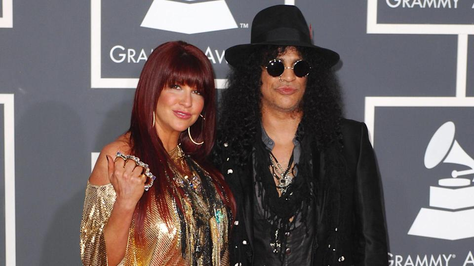 Saul 'Slash' Hudson and wife Perla Ferrar52nd Annual Grammy Awards, Arrivals, Los Angeles, America - 31 Jan 2010.