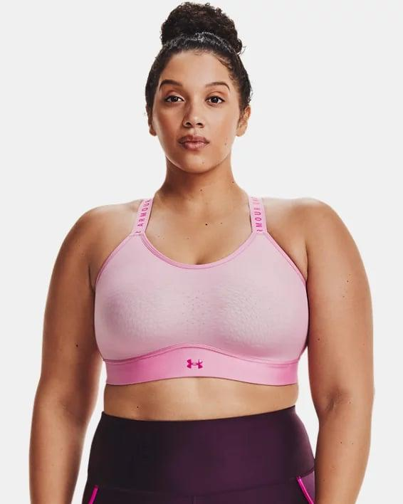 <p>Think pink in this supportive <span>Under Armour Infinity Mid Sports Bra</span> ($40).</p>