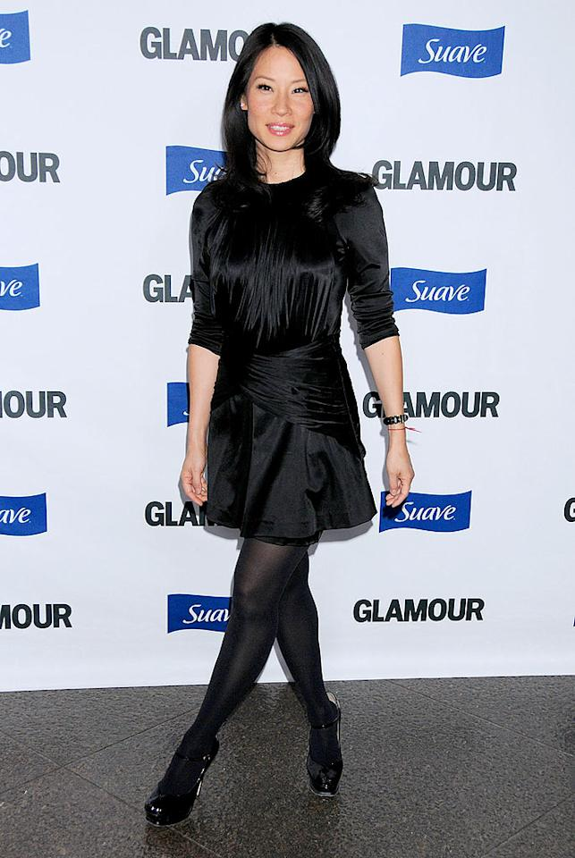 """Dirty Sexy Money"" star Lucy Liu looked bewitching in black. Gregg DeGuire/<a href=""http://www.wireimage.com"" target=""new"">WireImage.com</a> - October 14, 2008"