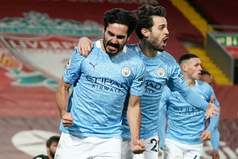 Soaring clear: Manchester City have set a new record of 15 consecutive wins for an English top-flight side