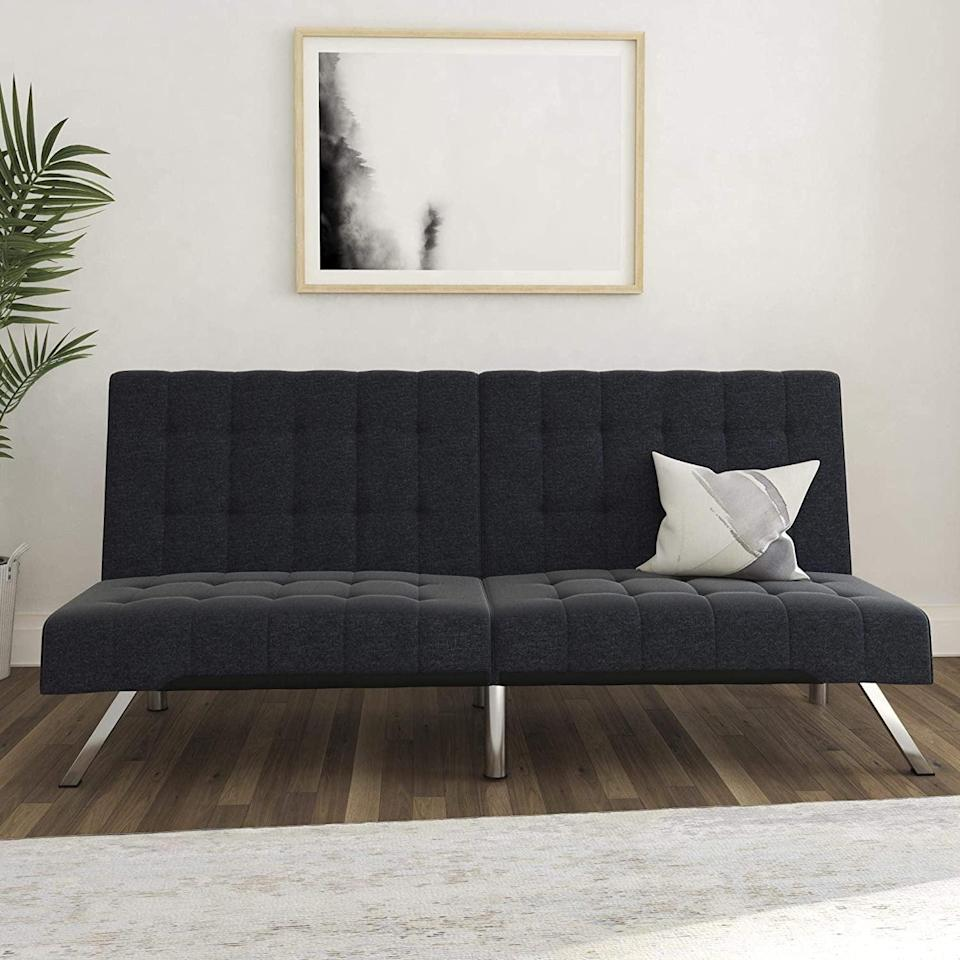 <p>This <span>DHP Emily Futon Couch Bed</span> ($219) comes in so many colors.</p>