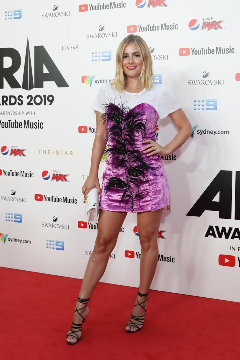 Carissa Walford arrives for the ARIA Awards 2019 at The Star. Photo: Getty Images