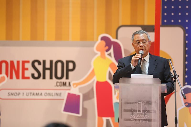 1 Utama director Datuk Teo Chiang Kok speaks at the launch of 1 Utama's mobile app and online platform in Petaling Jaya September 13, 2019. — Picture by Firdaus Latif
