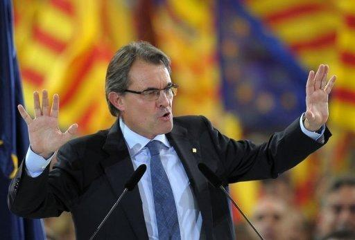 The leader of Spain's Catalonia region, Artur Mas