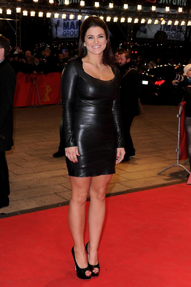 """BERLIN, GERMANY - FEBRUARY 15: Actress Gina Carano attends the """"Haywire"""" Premiere during day seven of the 62nd Berlin International Film Festival at the Berlinale Palast on February 15, 2012 in Berlin, Germany. (Photo by Pascal Le Segretain/Getty Images)"""