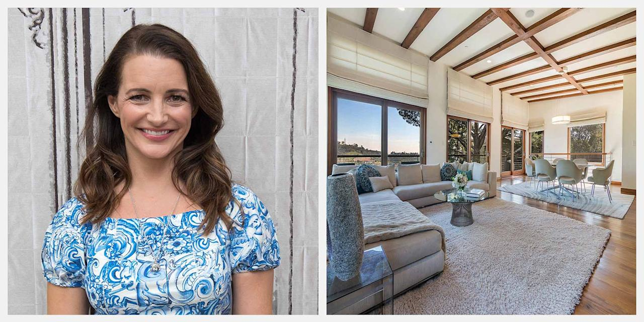 "<p>Actress Kristin Davis, who is known for her role as Charlotte on the hit series, <em>Sex and the City</em>, has just listed her Brentwood, California, <a href=""https://www.compass.com/listing/2242-jeffersonia-way-los-angeles-ca-90049/238424406857129809/"" target=""_blank"">home</a> for $3.3 million. The private compound, which features four bedrooms and three full bathrooms, is located at the end of a cul-de-sac in Mandeville Canyon, a star-studded neighborhood. </p><p>Among the home's amenities are an inviting master suite-complete with a spacious closet that boasts walnut cabinetry-as well as a spa-like master bathroom, an exercise studio, an office space, and a screening room. Custom finishes that appear throughout the home include everything from French glass countertops to reclaimed redwood. Plus, the home offers canyon and city views.</p><p>Here's a look inside the stunning property, which is listed by Mimi McCormick and Maureen McCormick. </p>"