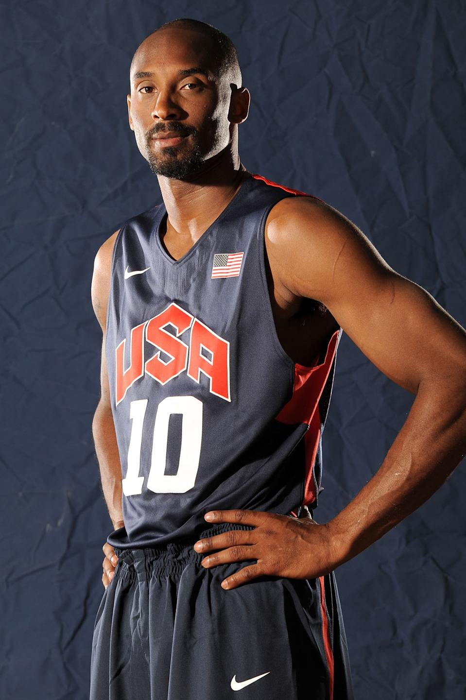 <b>Kobe Bryant</b><br> Kobe's looks make him a winner on and off the court. No doubt we'll see Team USA's biggest star flashing his confident grin atop the podium in London. (Photo by Andrew D. Bernstein/NBAE via Getty Images)