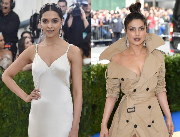 Deepika Padukone, left, and Priyanka Chopra