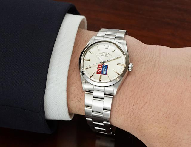 A 1989 example of the Domino's Rolex. (Christies)
