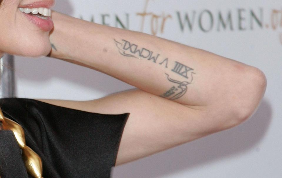Angelina Jolie's roman numerals have a political message [Photo: Getty]