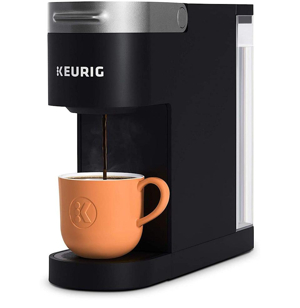 """<p><strong>Keurig</strong></p><p>amazon.com</p><p><strong>$49.99</strong></p><p><a href=""""https://www.amazon.com/dp/B083248S3B?tag=syn-yahoo-20&ascsubtag=%5Bartid%7C10054.g.36716381%5Bsrc%7Cyahoo-us"""" rel=""""nofollow noopener"""" target=""""_blank"""" data-ylk=""""slk:Buy"""" class=""""link rapid-noclick-resp"""">Buy</a></p><p><strong>Save 37% with Prime</strong></p><p>A space-saving coffee maker for those of us with nonexistent countertops.</p>"""