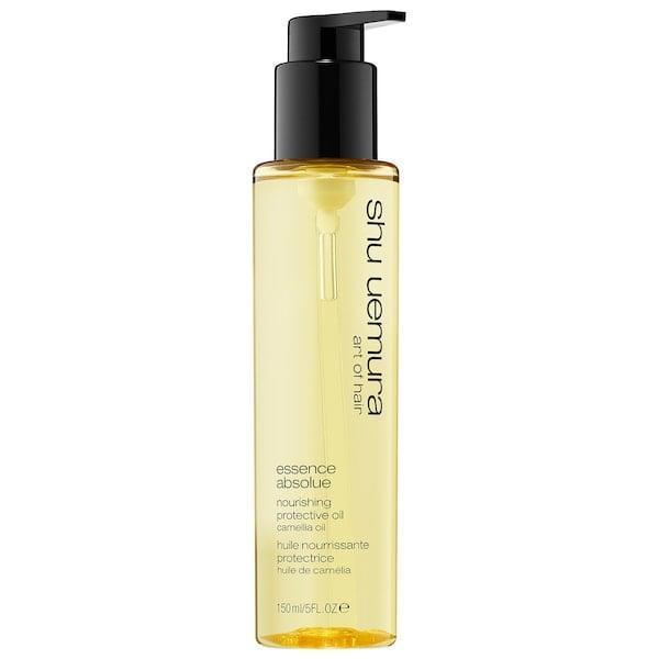 <p>For anyone whose hair starts struggling with a season change, this shine-inducing <span>Shu Uemura Essence Absolue Nourishing Protective Oil</span> ($28-$69) can add essential moisture with camelia oil in winter and UV protection in summer, too.</p>