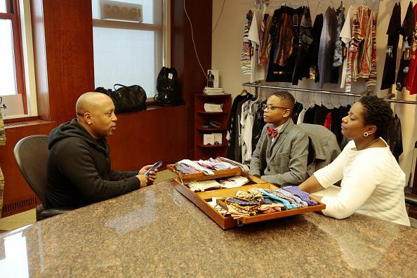 Mo Bridges and his mother travel from their hometown in Memphis, TN and meet with Daymond John. He takes Mo on a tour of his childhood home in Brooklyn to ensure this young man never forgets some of life's most valuable lessons (Photo by Giovanni Rufino/ABC via Getty Images).