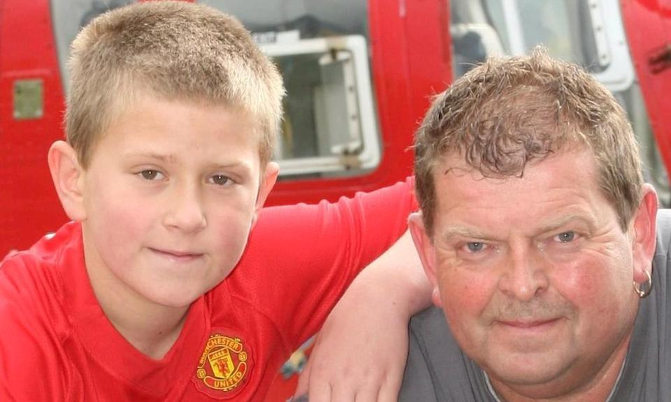 Nick Breese and Casey Breese donated £750 to the Wales Air Ambulance charity in 2009. (SWNS)