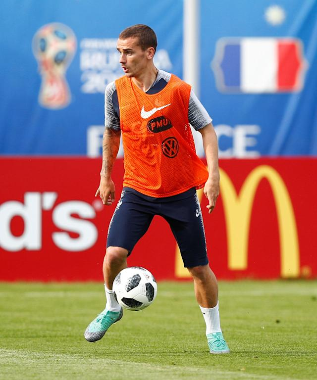 Soccer Football - World Cup - France Training - France Training Camp, Moscow, Russia - June 23, 2018 France's Antoine Griezmann during training REUTERS/Axel Schmidt