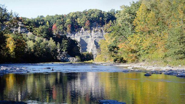 PHOTO: The Cattaraugus Creek through the Erie County side of Zoar Valley in Gowanda, N.Y., Oct. 12, 2016. (Rick Miller/Times Herald via AP)