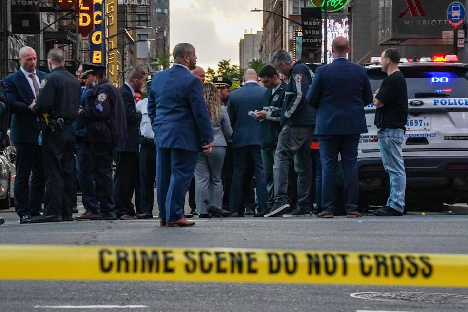 New York City's Times Square on Saturday after a shooting left three people injured. (Photo: David Dee Delgado via Getty Images)