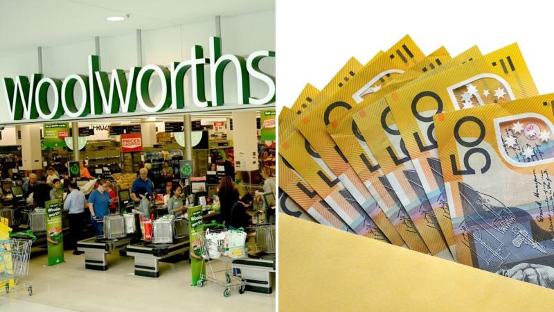 Woolworths has given workers $750 in shares. Images: Getty
