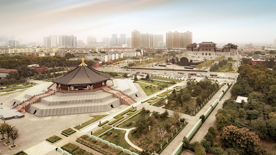 The mausoleum is located in the city of Luoyang, China, shown here.