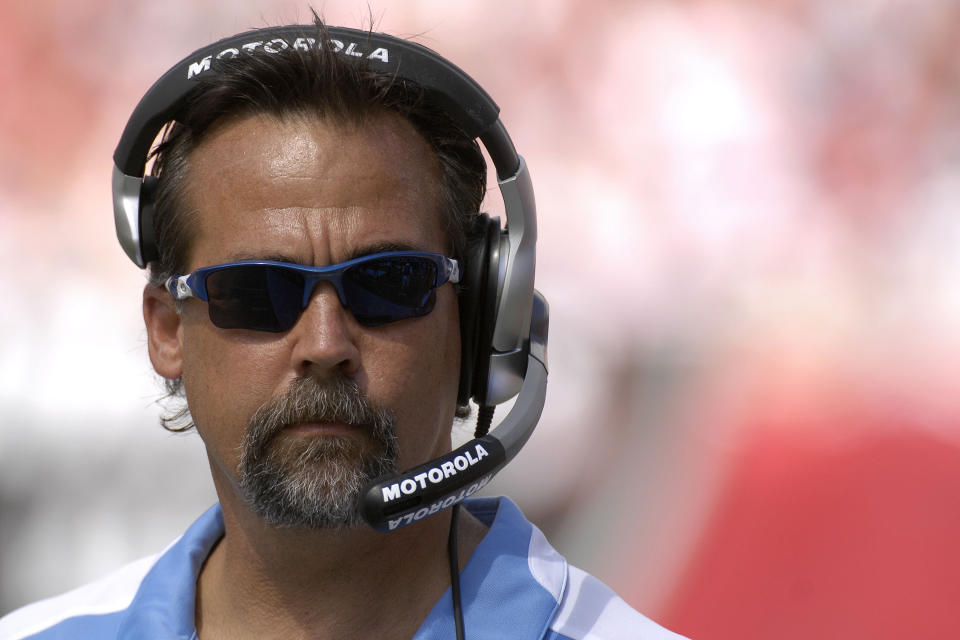October 14, 2007; Tampa, FL, USA; Tennessee Titans coach Jeff Fisher during his team's game against the Tampa Bay Buccaneers at Raymond James Stadium in Tampa, FL.
