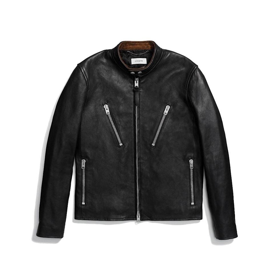 "<p><em>$1,400, available at <a rel=""nofollow"" href=""http://www.coach.com/coach-mens-leather-jackets-washed-leather-racer-jacket/86615.html?mbid=synd_yahoostyle"">coach.com</a></em></p>"