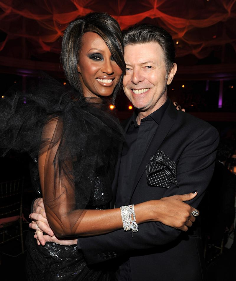 Iman and David Bowie in 2009.