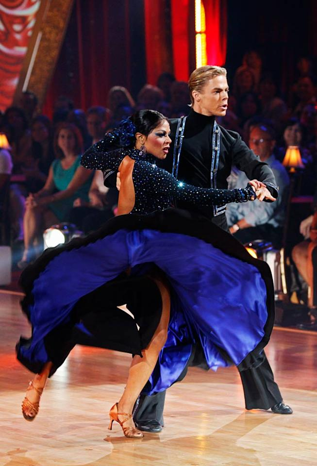 """Lil' Kim and Derek Hough perform the Paso Doble to """"El gato montes"""" by Manuel Penella on """"Dancing with the Stars."""""""