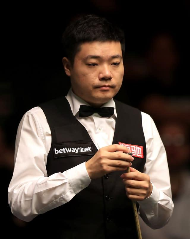 Ding Junhui, who will be the next opponent for Ronnie O'Sullivan. (Simon Cooper/PA Wire)
