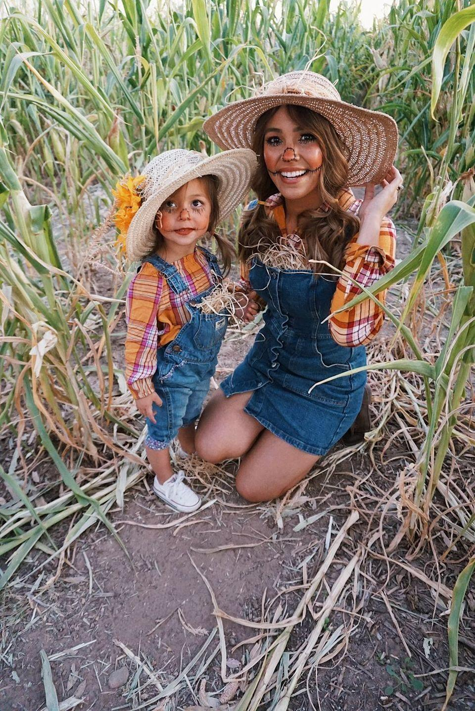 "<p>Nothing's cuter than dressing your mini-me in a matching ensemble. Find coordinating flannels, overalls, and straw hats to perfect this mother-daughter costume. </p><p><em><a href=""http://latelywithalexa.com/2019/10/23/halloween-2019-scarecrow-edition/"" rel=""nofollow noopener"" target=""_blank"" data-ylk=""slk:Get the tutorial at Lately with Alexa »"" class=""link rapid-noclick-resp"">Get the tutorial at Lately with Alexa » </a></em></p><p><strong>RELATED:</strong> <a href=""https://www.goodhousekeeping.com/holidays/halloween-ideas/g29246741/mother-daughter-halloween-costumes/"" rel=""nofollow noopener"" target=""_blank"" data-ylk=""slk:The Best Mother-Daughter Halloween Costumes"" class=""link rapid-noclick-resp"">The Best Mother-Daughter Halloween Costumes </a></p>"