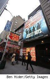 Broadway marquee fro Jersey Boys