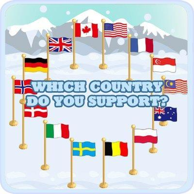 Cafe World Winter Sports Country Flags