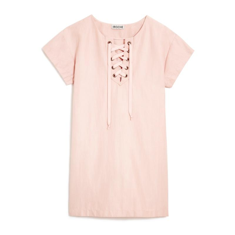 "<a rel=""nofollow"" href=""https://www.st-roche.com/collections/new-arrivals/products/danny-dress-blush"">Danny Dress Blush, St. Roche, $258<p>The womenswear brand works with manufacturing partners in India and Peru to choose eco-friendly options from organically grown and locally woven cottons.</p> </a>"