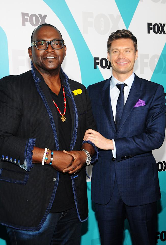 "Randy Jackson and Ryan Seacrest (""American Idol"") attend the Fox 2012 Upfronts Post-Show Party on May 14, 2012 in New York City."