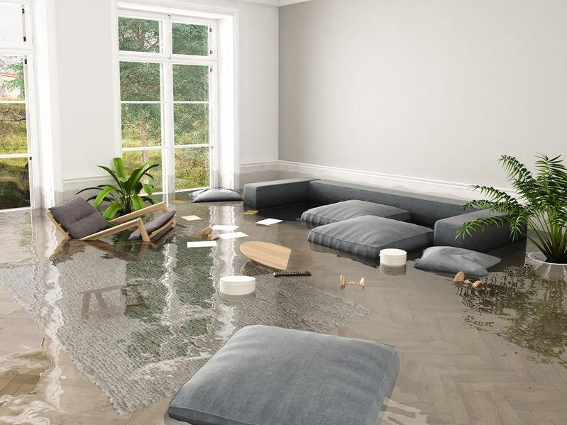 flooding in Singapore home