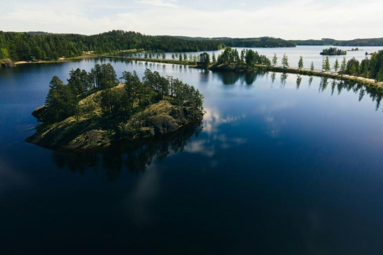 Finland's lake district lies close to the Russian border